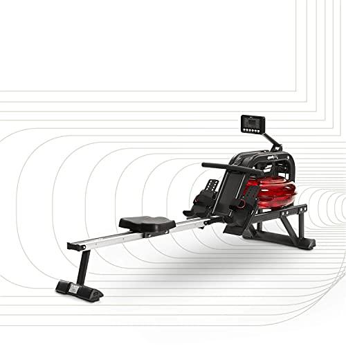 SportPlus Wasserrudergerät für zuhause - Rudergerät mit 6-fach...