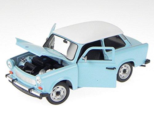 Trabant 601 hell blau Modellauto 24037 Welly 1:24