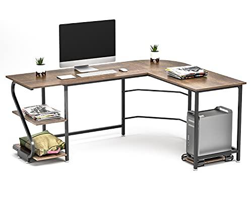 Computertisch Gaming Tisch Mit L-Form Mit Z-Typ Bücherregal