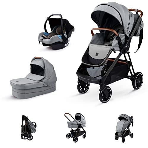 Kinderwagen 3 in 1 Komplettset Baby Zubehör Kinderwagen Buggy mit...