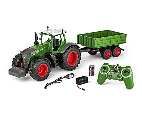 Carson 500907314 - 1:16 RC Traktor mit Anhänger 100% RTR,...