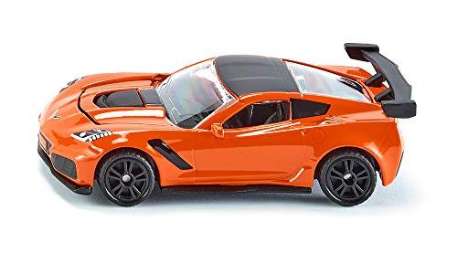 siku 1534, Chevrolet Corvette ZR1, Orange/Schwarz, Öffenbare...