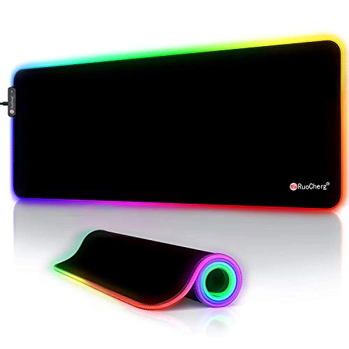 RuoCherg RGB Mauspad, 800 x 300 mm Gaming Mousepad mit...