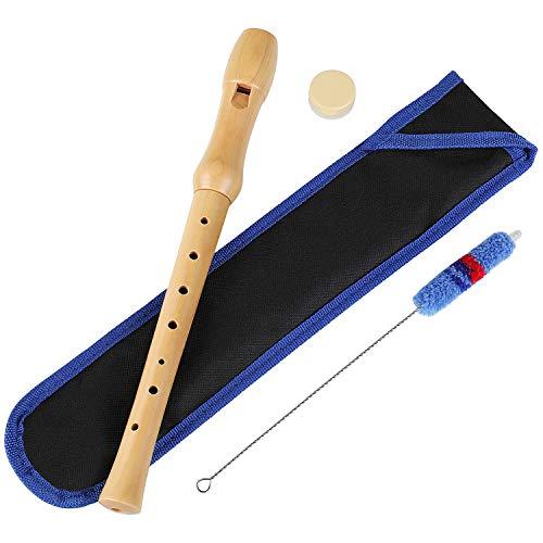 MVPower Holzblockflöte, Flöte aus Holz für Kinder und Anfänger mit...
