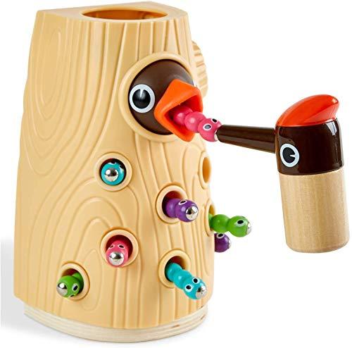 TOP BRIGHT Magnetisches Spielzeug Kinder Spiel ab 2 Jahre, Wurm Fangen...