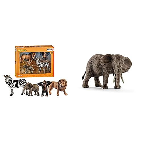 Schleich 42387 - Wild Life Starter-Set & 14761 - Afrikanische...