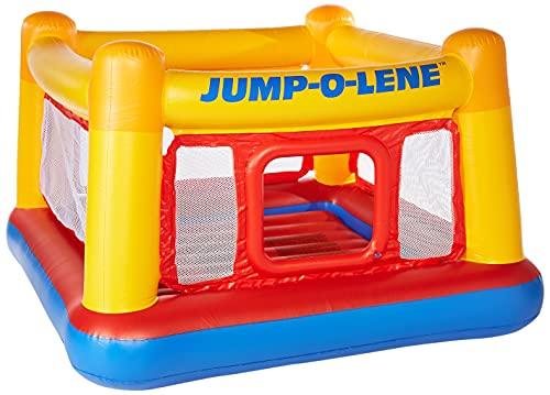 Intex Playhouse Jump-O-Lene - Aufblasbares Spielhaus - 174 x 174 x 112...