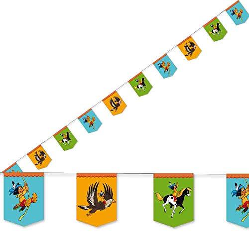3,5m Wimpelkette * YAKARI * mit 10 Wimpeln für Kinderparty und...