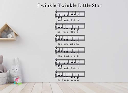 Twinkle Twinkle Little Star Musiktisch Wandtattoo Musik Thema...