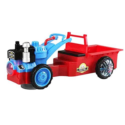 ZDYHBFE Elektroauto Cartoon Traktor Universal Fahren Kipplaster Licht...