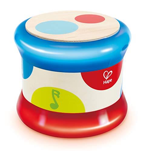Hape Baby-Trommel | Farbiges rollendes Musikspielzeug für Kleinkinder...