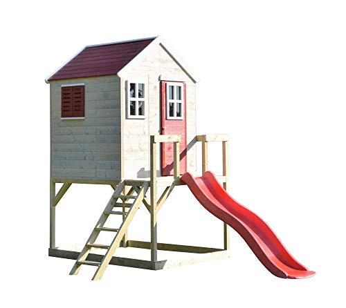 Wendi Toys Kinderspielhaus Tiger Spielturm inkl. Veranda & Rutsche