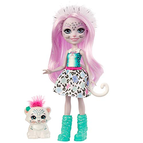 Enchantimals GJX42 - Enchantimals Sybill Snow Leopard Puppe (ca....