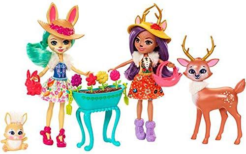 Mattel Enchantimals FDG01 Gartenzauber Spielset mit Hasen-Puppe,...