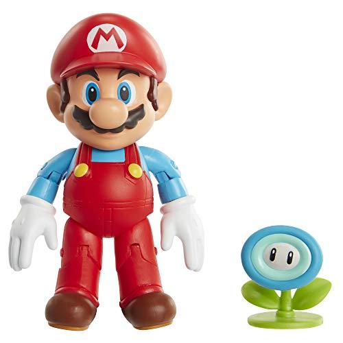 Nintendo - Jakks Super Mario - EIS-Mario mit Eisblume - 10 cm Figur -...