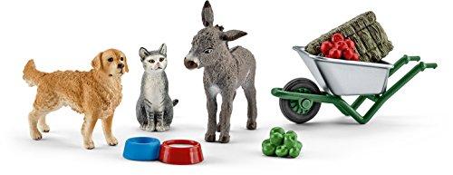 Schleich 41423 Spielzeugfigur, Fütterung auf dem...