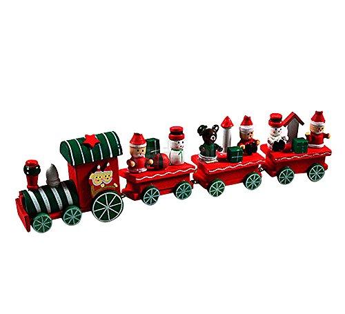 Weihnachtszug bemalte Holz Weihnachtsdekoration Kind Geschenk...