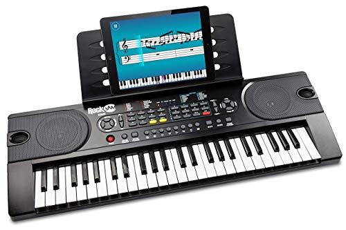 RockJam 49 Tasten Keyboard Klavier mit Netzteil, Notenständer,...