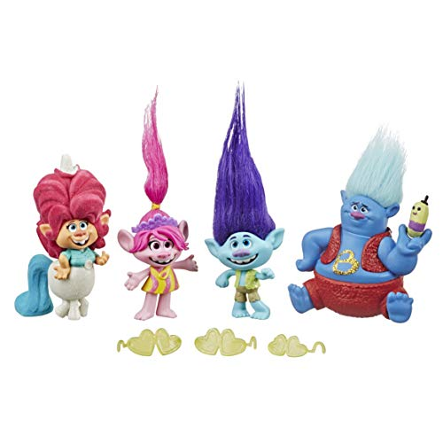 Hasbro DreamWorks Trolls Lonesome Flats Tour Pack, 5 kleine Figuren,...