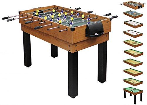 1PLUS umfangreicher Multifunktionsspieltisch Tischkicker-Multifunktionstisch (10 in 1) für die ganze Familie