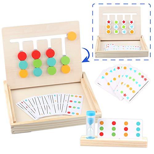 Sunarrive Montessori Spielzeug Holz Puzzle Sortierbox Lernspiele -...