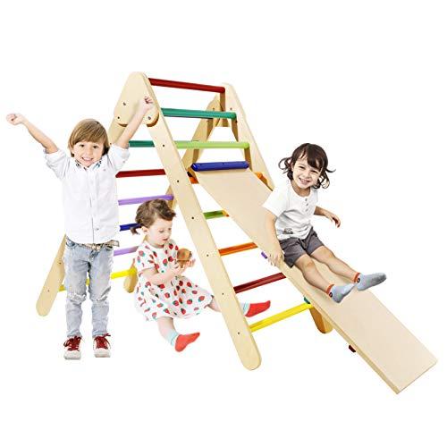 Klettergerüst Kinder Indoor Faltbare Kletterdreieck mit Rutsche...