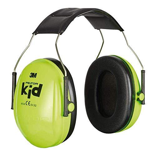 3M Peltor Kid Kapselgehörschützer neongrün, Leichter Kinder Gehörschutz/Ohrenschutz mit verstellbarem...