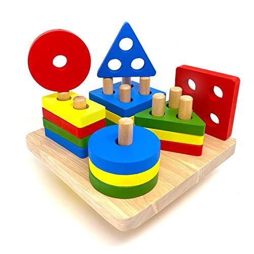 Euyecety Montessori Spielzeug 1 2 3 Jahre, Steckspiel ab 1 Jahr...