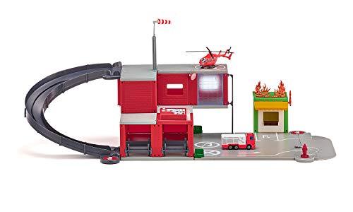 siku 5508, Feuerwache, Rot, Kunststoff, Mit Licht- und Soundeffekten,...