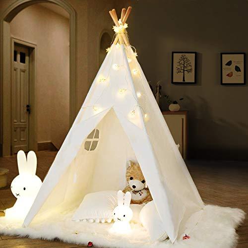 IREENUO Tipi Zelt für Kinder mit Lichterkette & Tragetasche &...