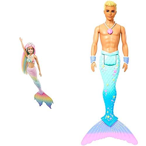 Barbie GTF89 - Dreamtopia Regenbogenzauber Meerjungfrauen-Puppe mit...
