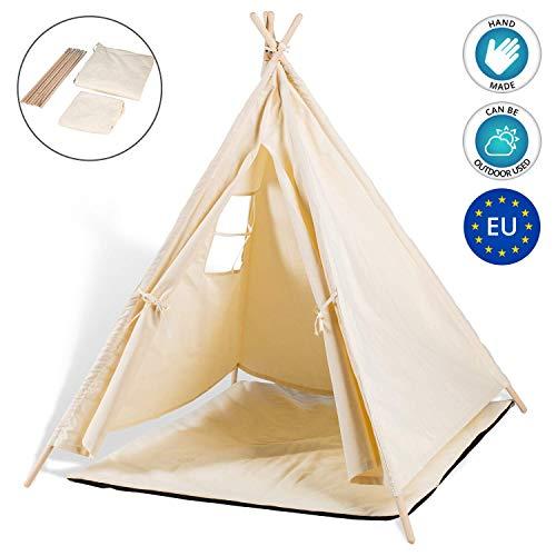 Tipi Zelt für Kinder Spielzelt - Tippi Kinderzelt Kinderzimmer Teepee...