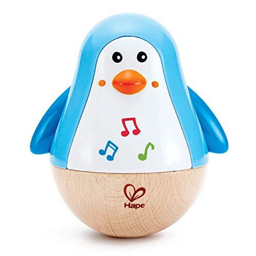 Hape E0331 - Stehauf-Pinguin, Stehaufmännchen mit Klang, blau, ab 6...