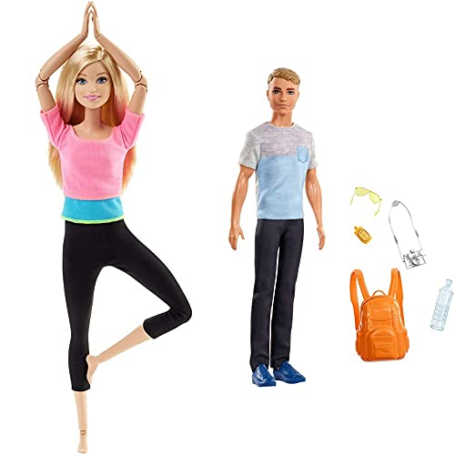 Barbie DHL82 Barbie Made to Move Puppe mit pinkem Top,...