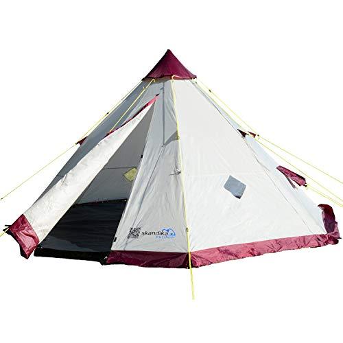 skandika Tipi 200 Personen Zelt Outdoor | Campingzelt für 6 Personen,...