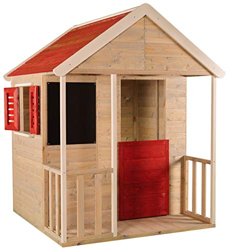 Wendi Toys M5 Kinderspielhaus Holz | Spielhaus Holz | Gartenhaus...