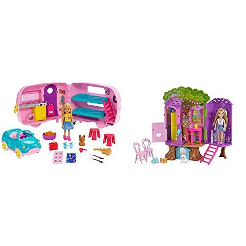 Barbie FXG90 - Chelsea Camper und Puppe Spielset, Puppen Spielzeug ab...