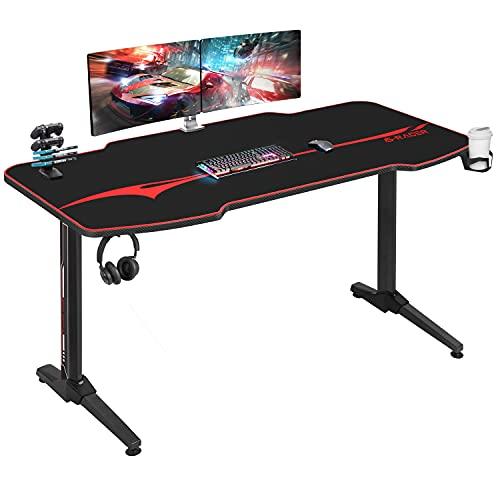Homall Gaming Tisch 140 cm Gaming Schreibtisch Gamer Computertisch...