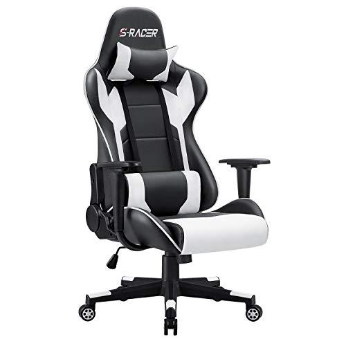 Homall Gaming Stuhl Bürostuhl Zocker Stuhl Ergonomischer Gamer Stuhl...