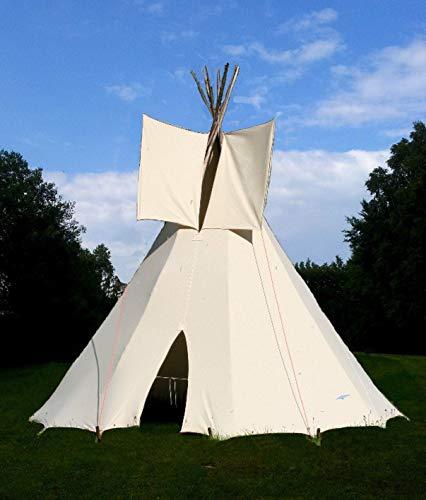Ø 2,30m Kinder Tipi komplett mit Stangen Indianertipi Indianerzelt...
