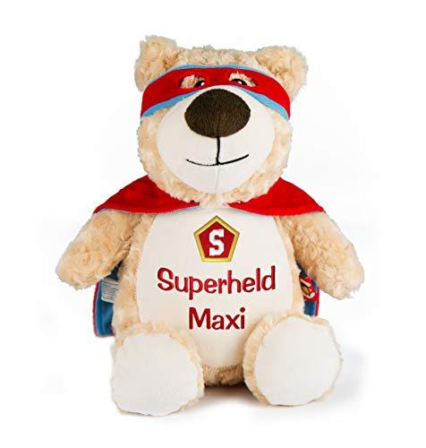 Superheld Teddybär mit Stickerei Namen, Teddy Bestickt...