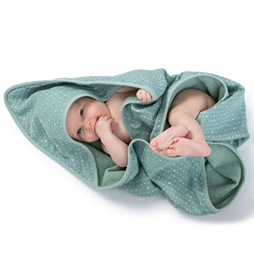 Urban Kanga Baby-Badetuch mit Kapuze Doppelseitiges Kapuzentuch 100%...