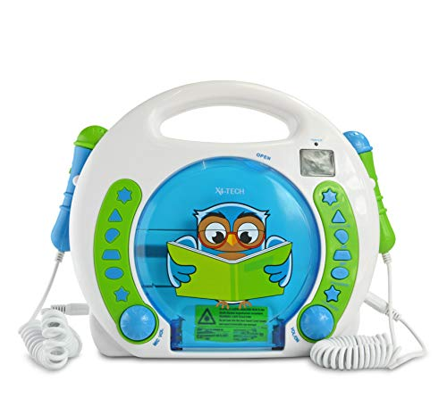 X4-TECH Bobby Joey Eule - Kinder CD-Player MP3 Karaoke Hörbücher 2...