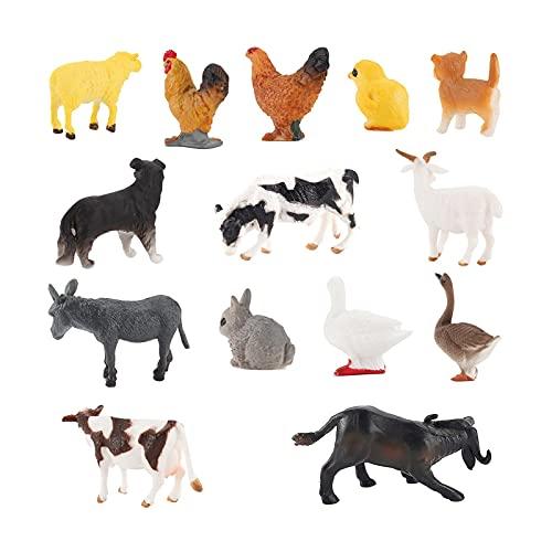 voctapat 14Pcs Mini Bauernhof Tiere Figuren Spielzeug, Realistische...