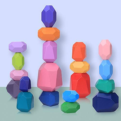 Balanciersteine Holz Stapeln Spielzeug, 20 Teilig Montessori...
