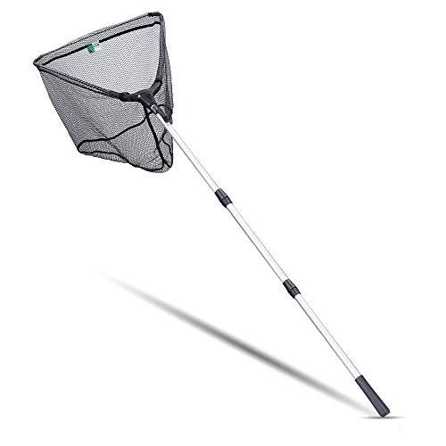 Zite Fishing Kescher Gummiert zum Angeln - Teleskop Angelkescher Diverse Längen auch für Kinder (210 cm)