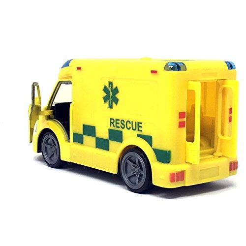 Spielzeug Krankenwagen + Licht & Sound Notreaktion Fahrzeug Druckguss...