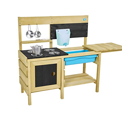 TP Toys TP612 Wooden Mud Kitchen Deluxe Holzschlamm Küche, holzfarben