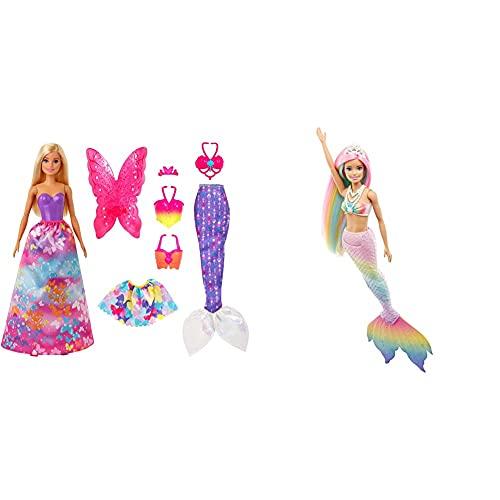 Barbie GJK40 - Dreamtopia 3-in-1 Fantasie Spielset, Puppe (blond) mit...
