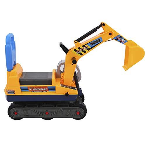 Ejoyous Kinderbagger Spielzeug, Bagger Spielzeugauto Mit Helm Und...